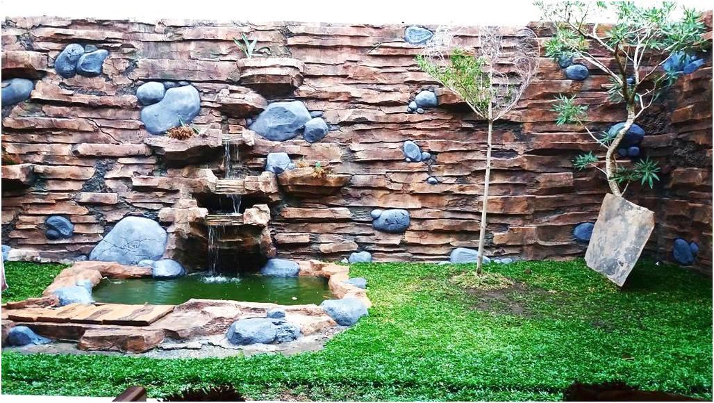Modern desain taman depan rumah minimalis