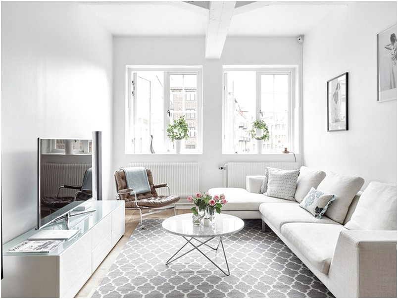 Ruang tamu sempit minimalis mungil unik terbaru