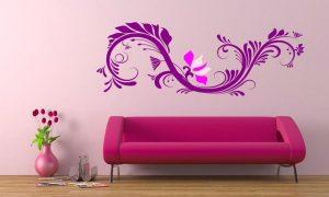 Simple Desain Wallpaper Dinding Ruang Tamu Minimalis Pink Nyaman Elegan Mempesona Cantik Mewah Terbaru