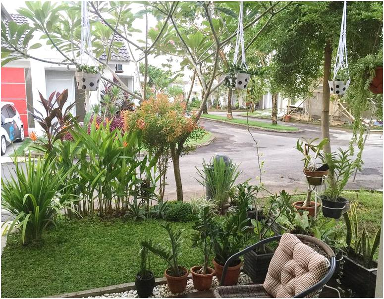 Taman depan rumah minimalis sederhana modern lahan sempit pinggir jalan terbaru