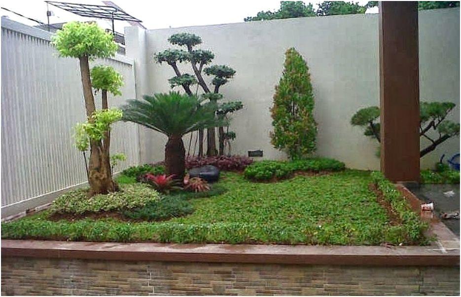 Taman kecil depan rumah minimalis sederhana modern lahan sempit terbaru