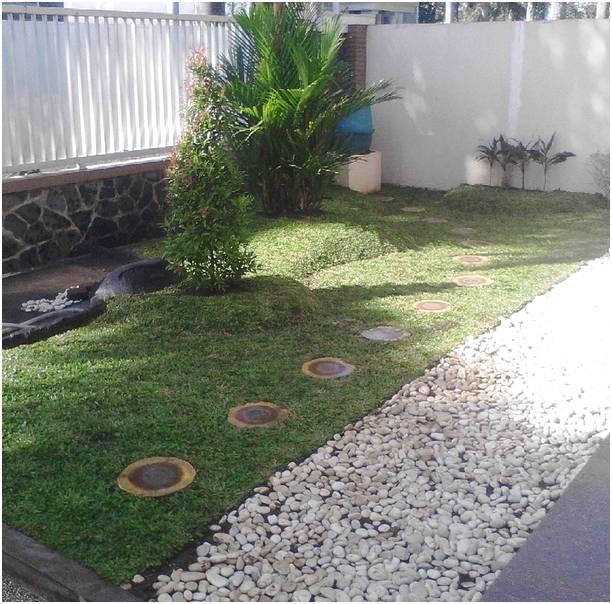 Taman kecil depan rumah modern terbaru