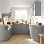 Terbuka Desain Dapur Minimalis Mungil Sederhana Modern Type 2x3 Warna Cat Abu Abu Terbaru
