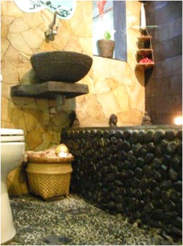 Tradisional Desain Kamar Mandi Minimalis Kecil Mungil Sempit Batu alam Duduk Jongkok 2x2 2x1 3x1 Murah Terbaru