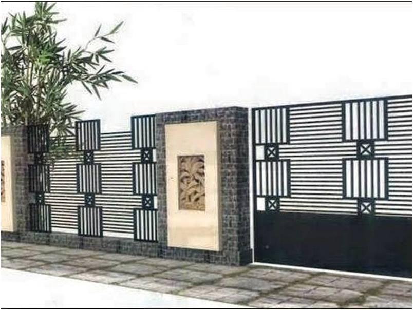 Unik Tren model desain pagar rumah minimalis modern mewah terbaru