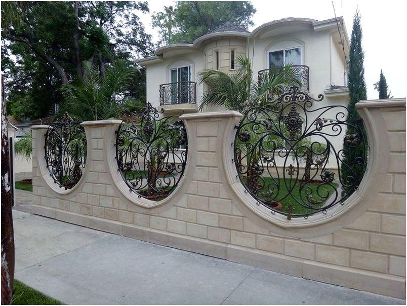 Unik desain tembok pagar rumah minimalis mewah modern type 36