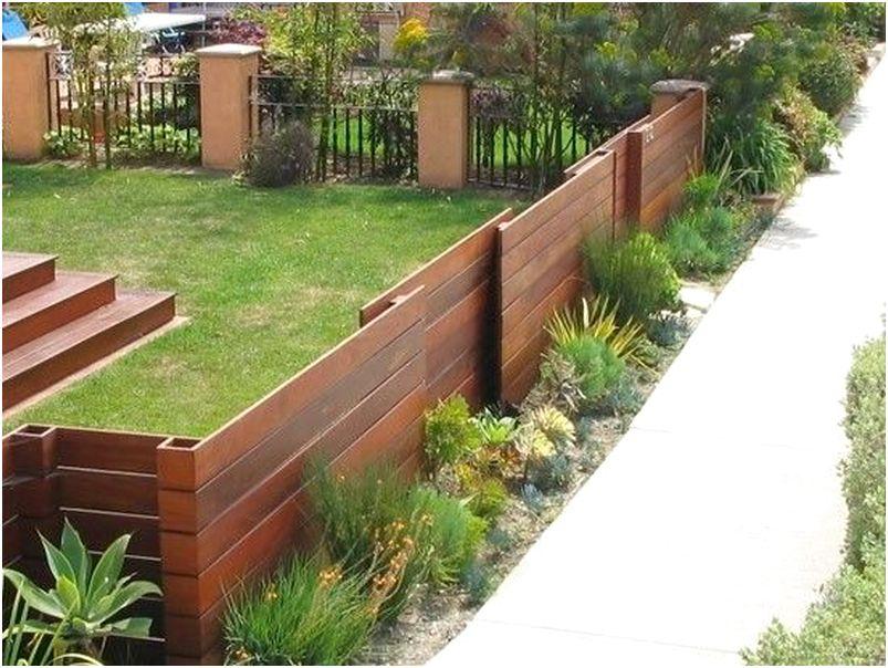 Unik model desain pagar rumah minimalis cantik rapi kayu besi semen tembok menawan elegan mewah modern terbaru