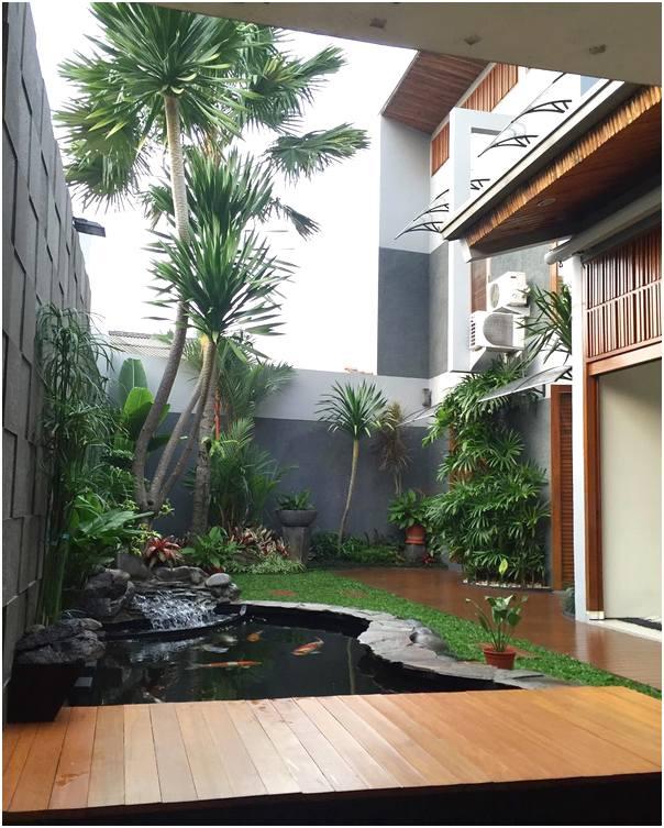 Unik taman depan rumah minimalis sederhana modern lahan sempit terbaru