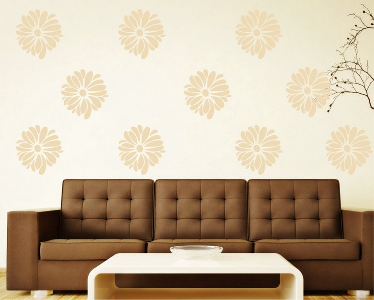 Wallpaper Dinding Ruang Tamu Minimalis Pink Motif Bunga Nyaman Indah Elegan Mempesona Cantik Mewah Terbaru