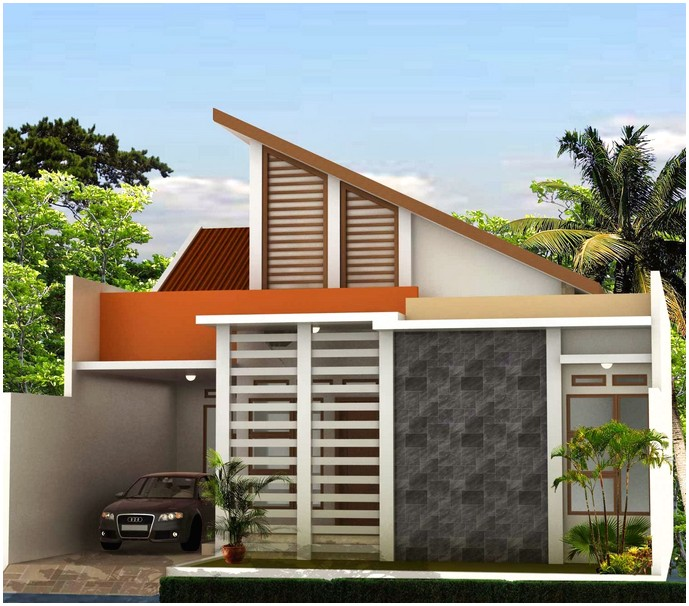 Brilian model desain rumah minimalis 1 lantai mewah nyaman elegan terbaru terbaik dengan batu alam tampak depan
