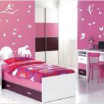 dekorasi desain kamar tidur kecil minimalis sederhana sempit tampak luas unik warna ungu terbaru