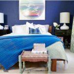 desain dekorasi kamar tidur kecil minimalis sederhana kamar kost modern warna biru terbaru