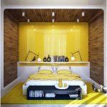 desain kamar tidur kecil minimalis sederhana cat kuning modern mewah elegant nyaman anak anak remaja terbaru