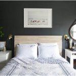 desain kamar tidur kecil minimalis sederhana hitam putih hiasan kamar tidur modern terbaru