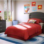 desain kamar tidur kecil minimalis sederhana merah anak anak mewah modern terbaru