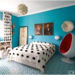 desain kamar tidur kecil minimalis sederhana tampak luas warna biru
