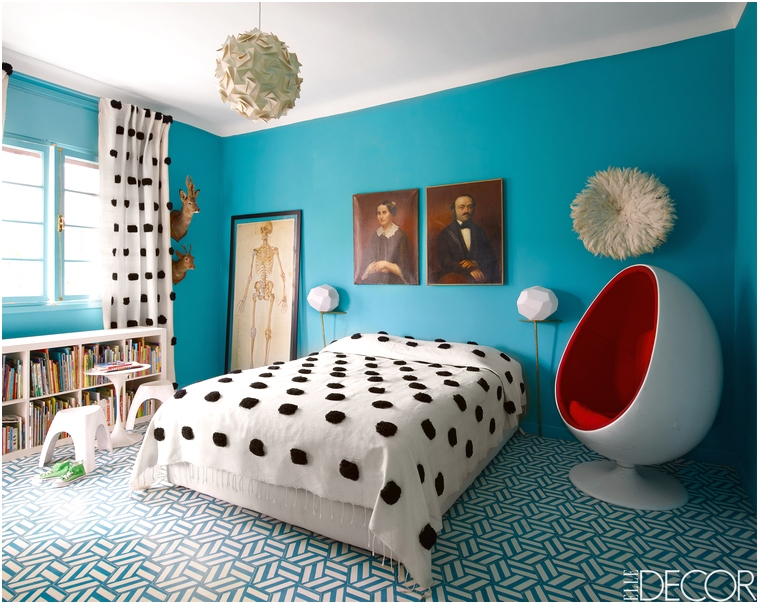 Desain R Tidur Kecil Minimalis Sederhana Tampak Luas Warna Biru