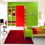 desain kamar tidur kecil minimalis sederhana unik hijau terbaru elegant