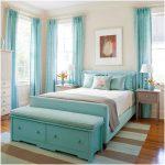 desain kamar tidur kecil minimalis sederhana warna biru perempuan unik tambapak luas terbaru