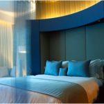 desain kamar tidur kecil minimalis sederhana warna biru unik tampak luas terbaru