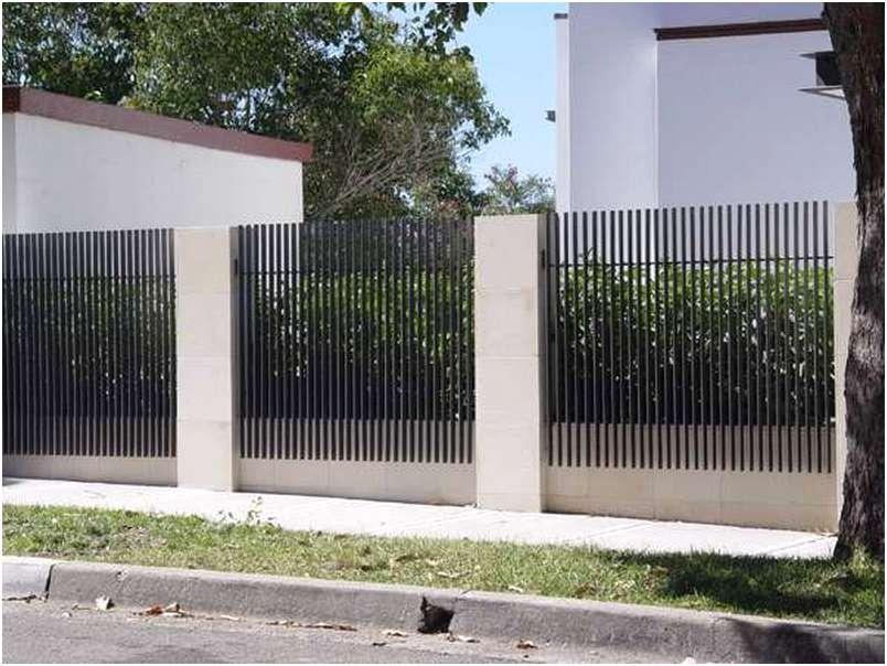 desain pagar rumah minimalis besi metal cantik mewah modern type 36 terbaru