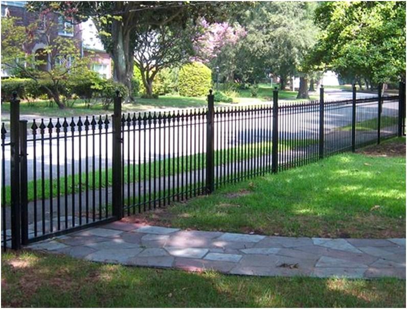 desain pagar rumah minimalis metal besi mewah modern elegan terbaru