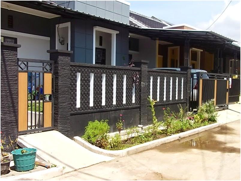 desain pagar rumah minimalis mewah klasik elegan nyaman mempesona terbaru