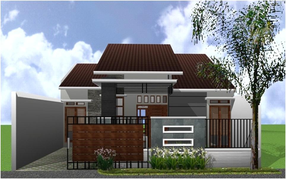 desain pagar rumah minimalis mewah modern type 36