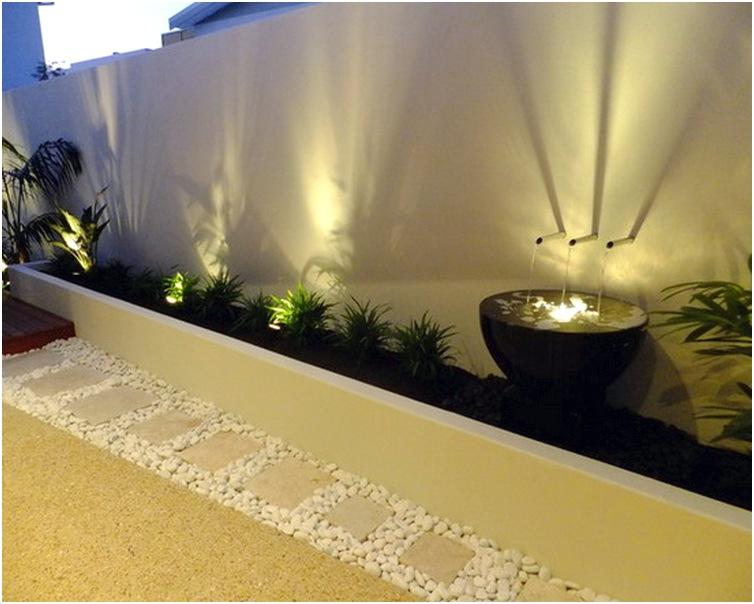 desain taman depan rumah kecil minimalis sederhana terbaru