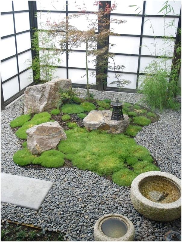 desain taman rumah jepang terbaru