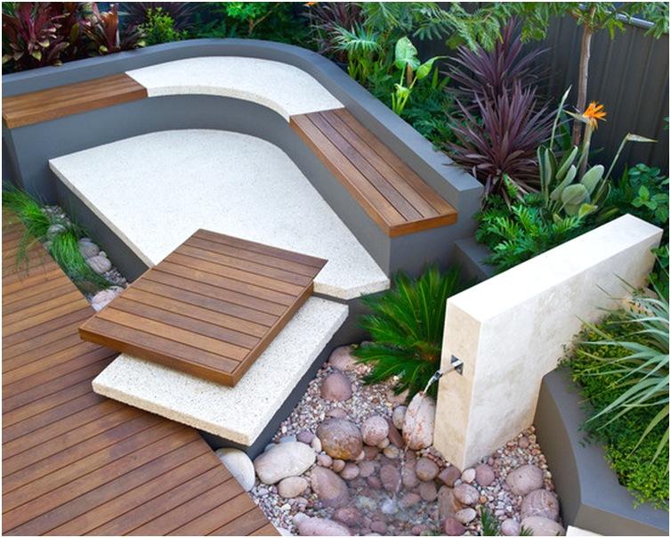 desain taman rumah mungil sederhana modern terbaru