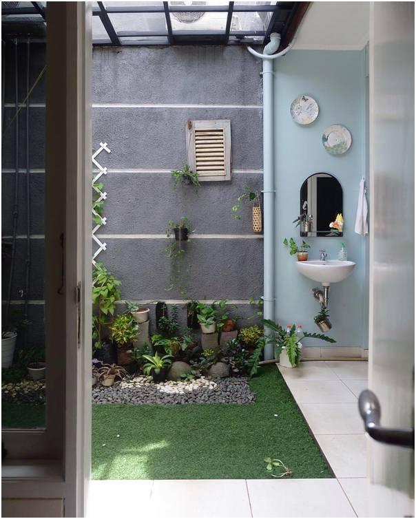 ide baru taman depan rumah mungil sederhana