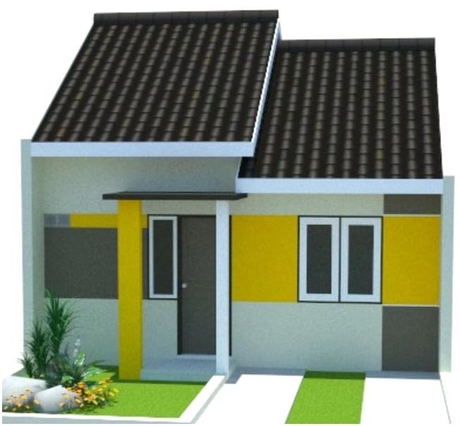 Ide luar biasa model desain rumah minimalis 1 lantai mewah nyaman elegan tampak depan warna kuning putih modern