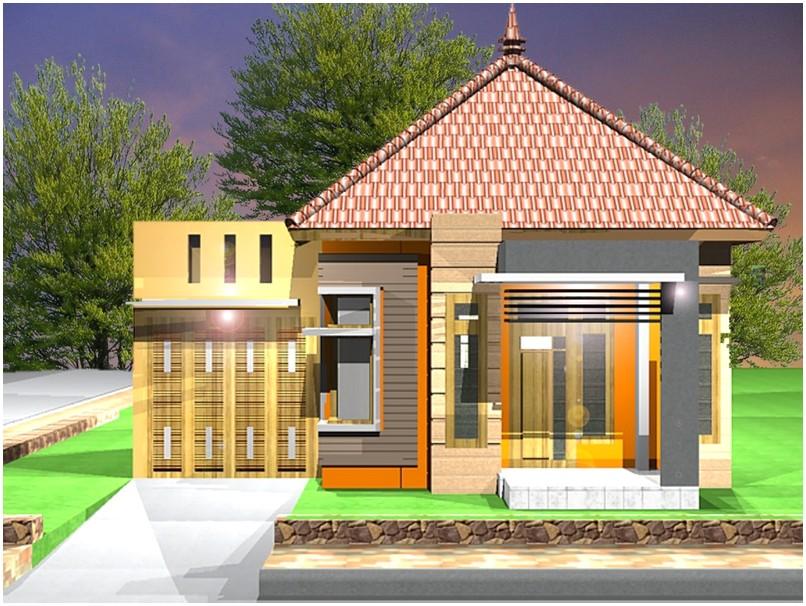 Ide model desain rumah minimalis 1 lantai mewah nyaman elegan sederhana tampak depan warna abu-abu cokelat kuning dengan batu alam tampak depan istimewa