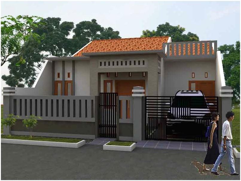 Ide model desain rumah minimalis 1 lantai mewah nyaman elegan warna abu abu enak dipandang tampak depan