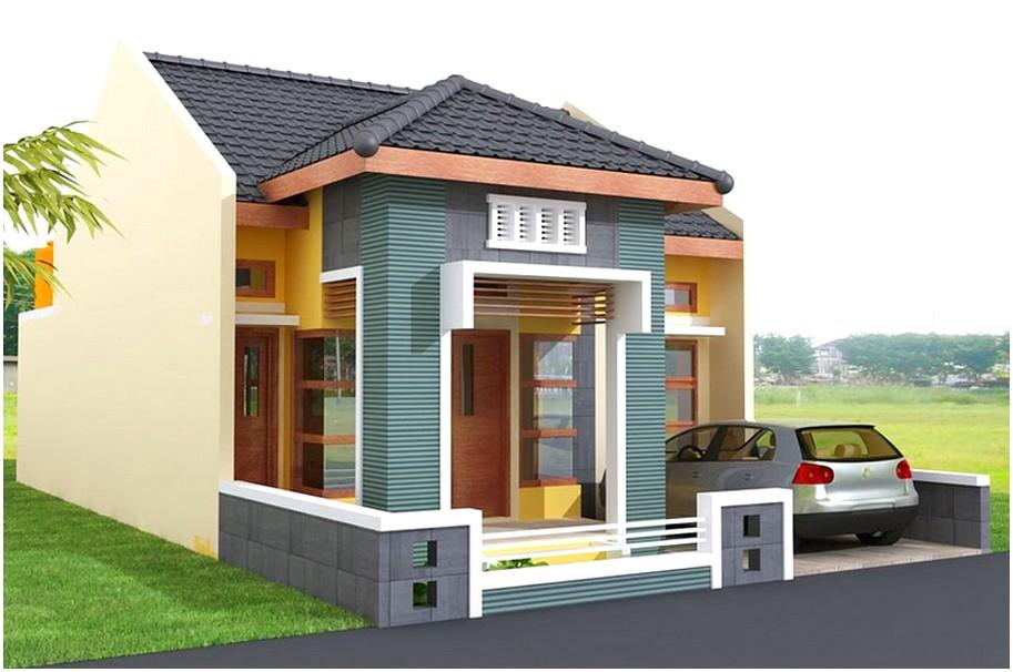 Ide model desain rumah minimalis 1 lantai mewah nyaman elegan warna kuning istimewa tampak depan