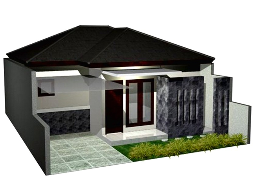 Impian model desain rumah minimalis 1 lantai mewah nyaman elegan tampak depan warna putih genteng hitamcokelat terbaru