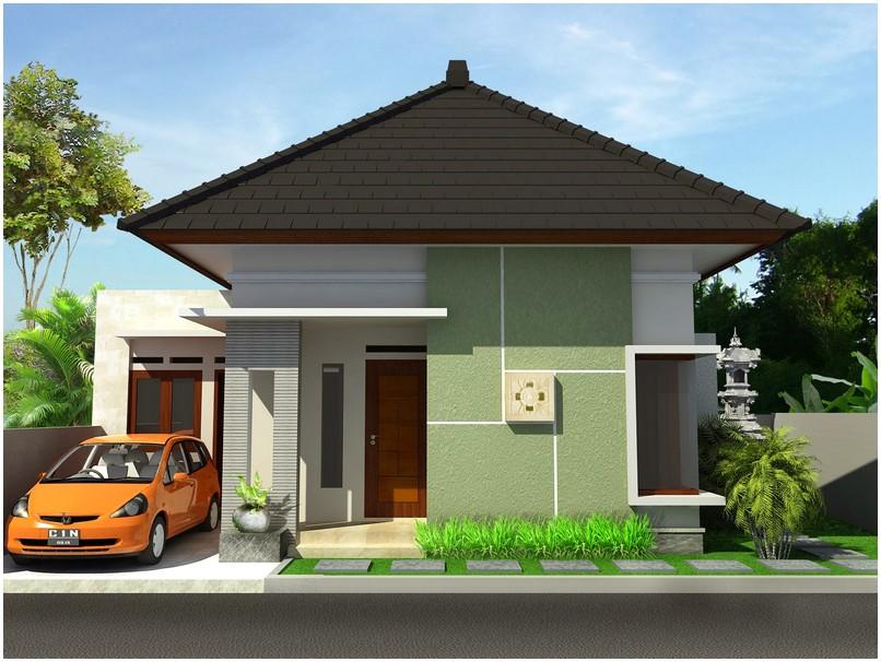 Istimewa model desain rumah minimalis 1 lantai mewah nyaman elegan grey krem genteng hitam abu abu tampak depan
