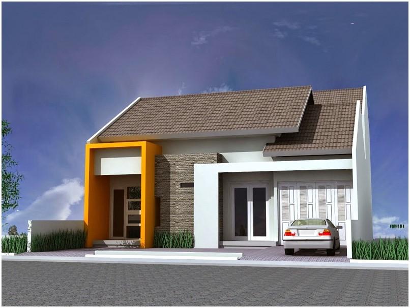Istimewa model desain rumah minimalis 1 lantai mewah nyaman elegan modern nampak luas warna putih tampak depan