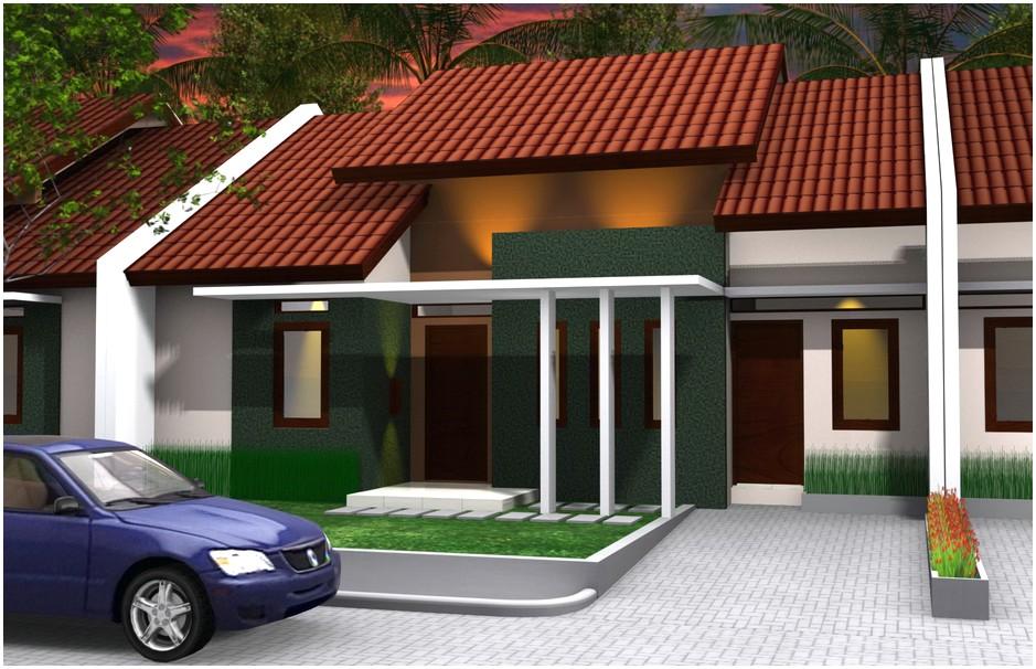Istimewa Model desain rumah minimalis 1 lantai mewah nyaman elegan warna abu abu hitam genteng cokelat masa kini tampak depan