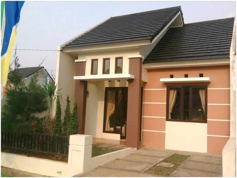 Istimewa model desain rumah minimalis 1 lantai mewah nyaman elegan warna cokelat dan krem terbaru tampak depan