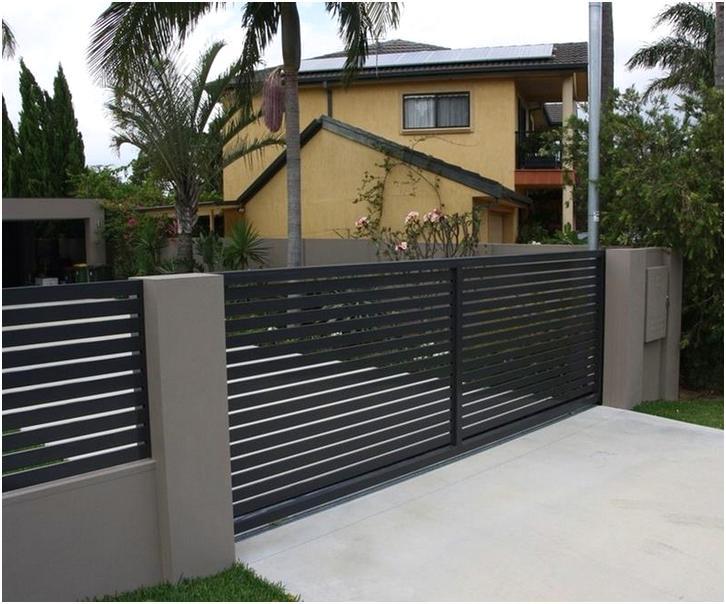 konsep desain pagar rumah minimalis mewah modern nyaman terbaru