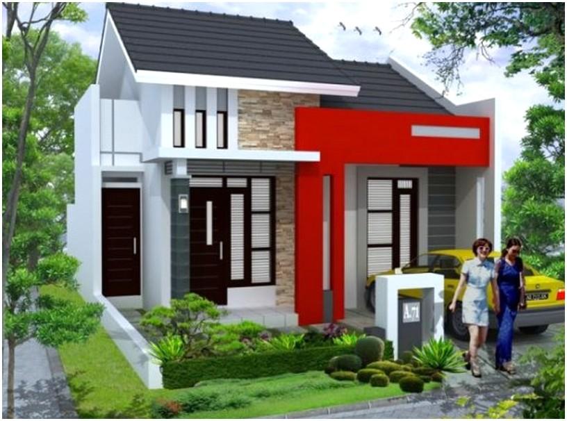 Konsep desain rumah minimalis 1 lantai mewah nyaman elegan terbaru masa kini tampak depan