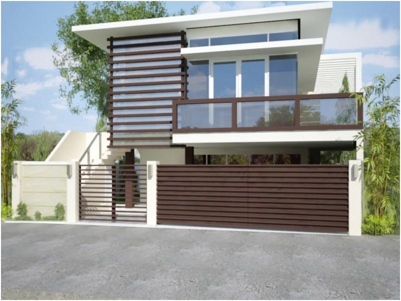 konsep pagar rumah minimalis mewah modern terbaru