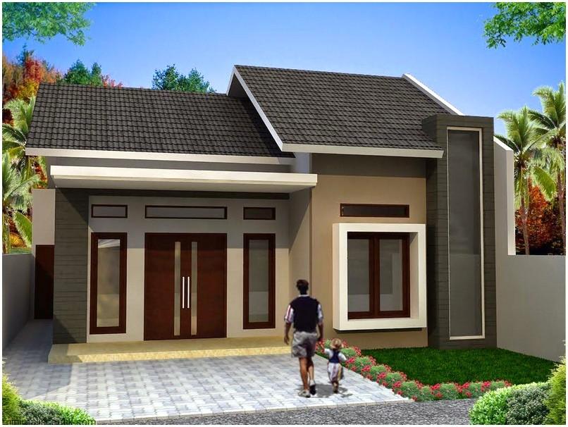 Luar biasa model desain rumah minimalis 1 lantai mewah nyaman elegan asri terbaik warna krem masa kini