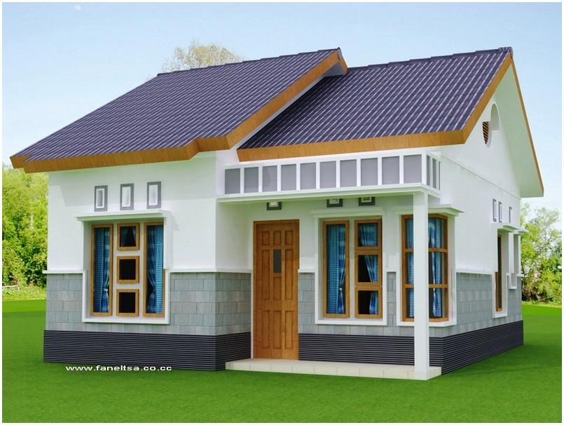 Luar biasa model desain rumah minimalis 1 lantai mewah nyaman elegan warna putih tampak depan dengan batu alam