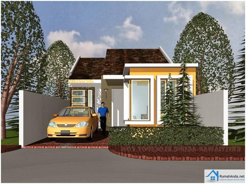 Luar biasa model desain rumah minimalis 1 lantai modern mewah nyaman elegan warna orange tampak depan