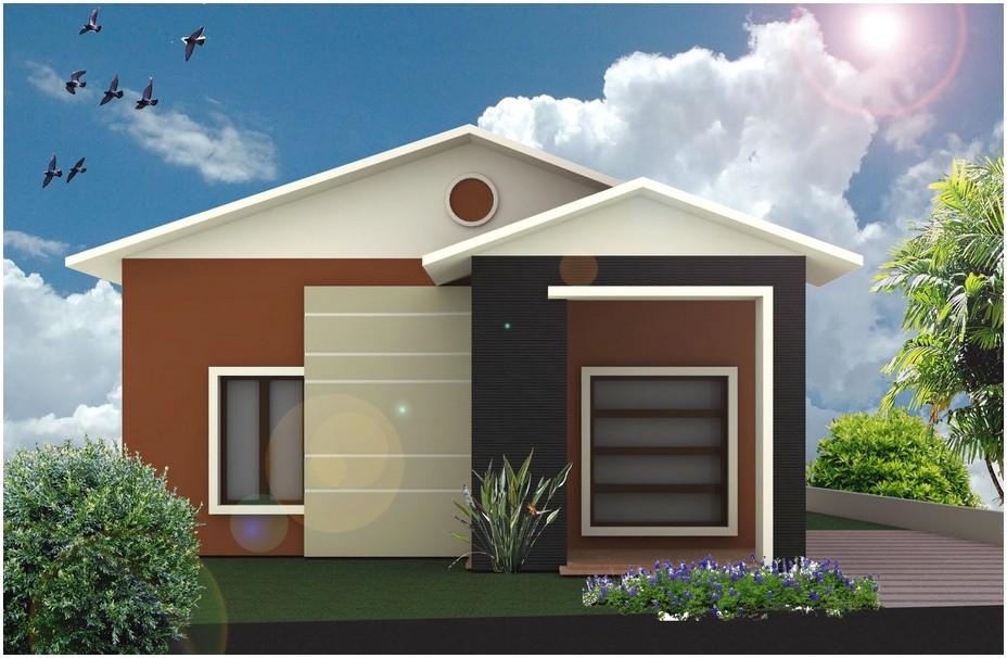 Mempesona model desain rumah minimalis 1 lantai mewah nyaman elegan modern warna cokelat hitam krem tampak depan