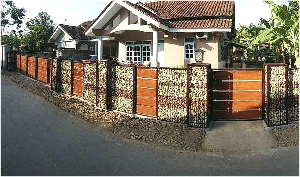 model desain pagar rumah minimalis batu alam terbaru terbaik