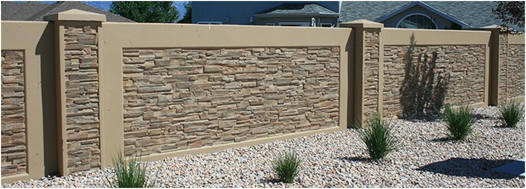 model desain pagar rumah minimalis batu alam
